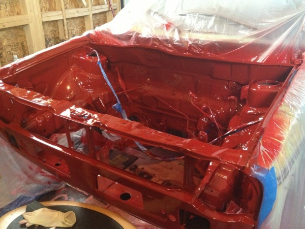 VW Cabriolet Luv-A-Dub Update Engine Bay Paint