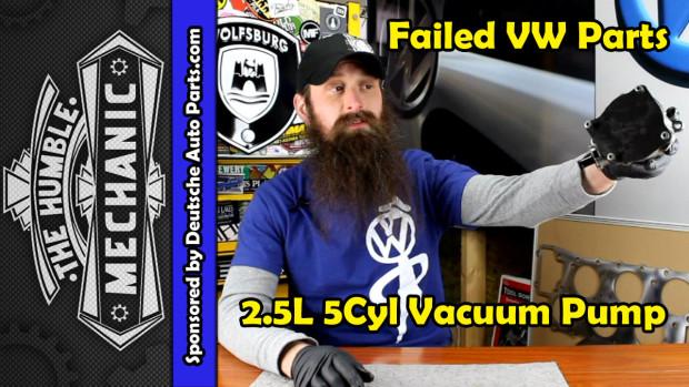 How The VW 2.5L Vacuum Pump Fails ~ Video
