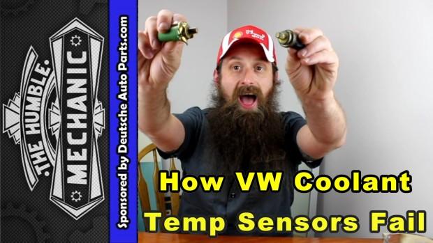 How VW Coolant Temperature Sensors Fail ~ Video