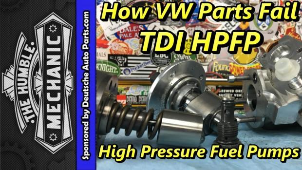 How VW Parts Fail ~ TDI High Pressure Fuel Pumps