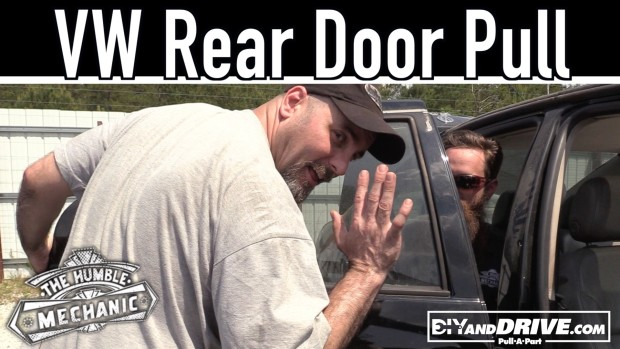 How To Remove A VW Rear Door ~ Salvage Yard Tips