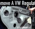 How To Remove a VW Window Regulator ~ Salvage Yard Tips