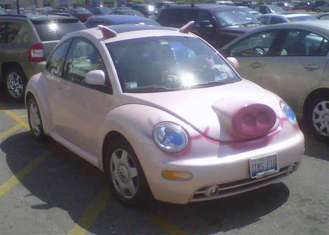 Pig Volkswagen Beetle