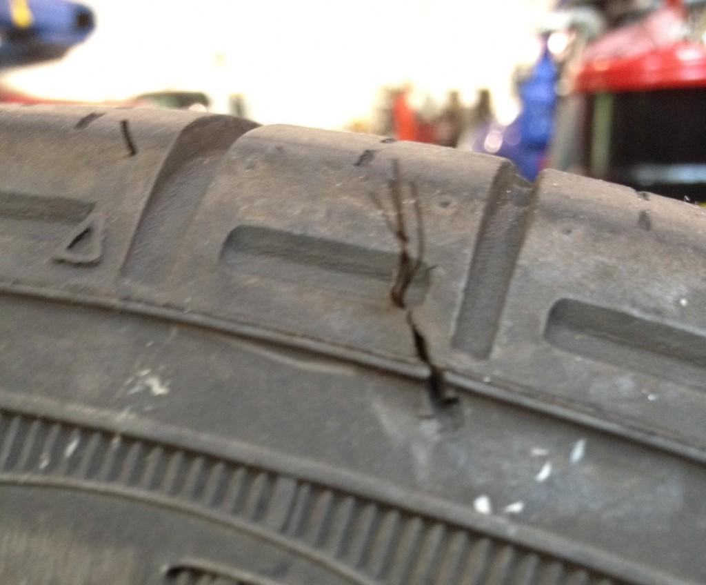 Failed VW tire