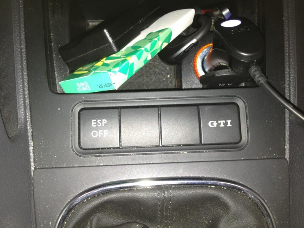 GTI button on a VW GTI