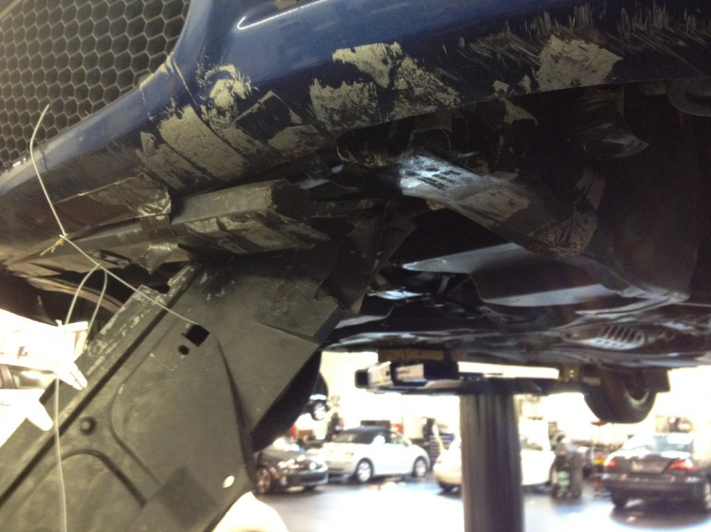 Automotive Service pictures Shop Shots VW belly Pan