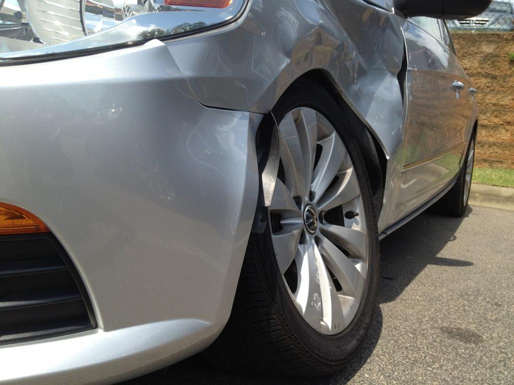Shop Shots Car blog Auto Mechanic Volkswagen CC Damage