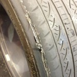 Worn out VW tire