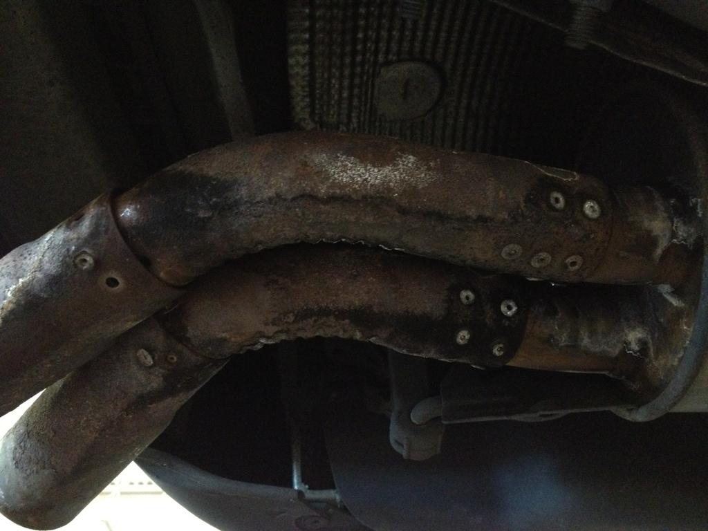 Bad replacement exhaust VW Passat