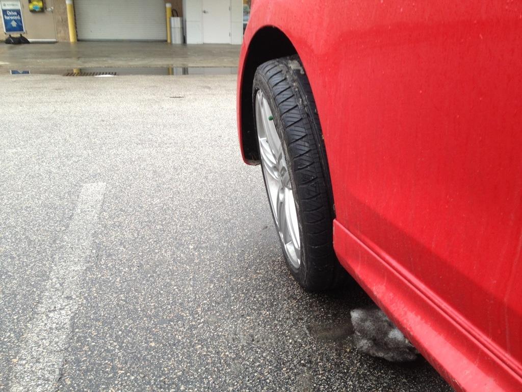 Damage to VW Golf R