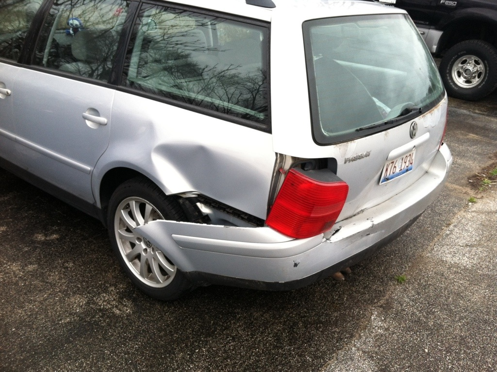 Totaled Volkswagen Passat