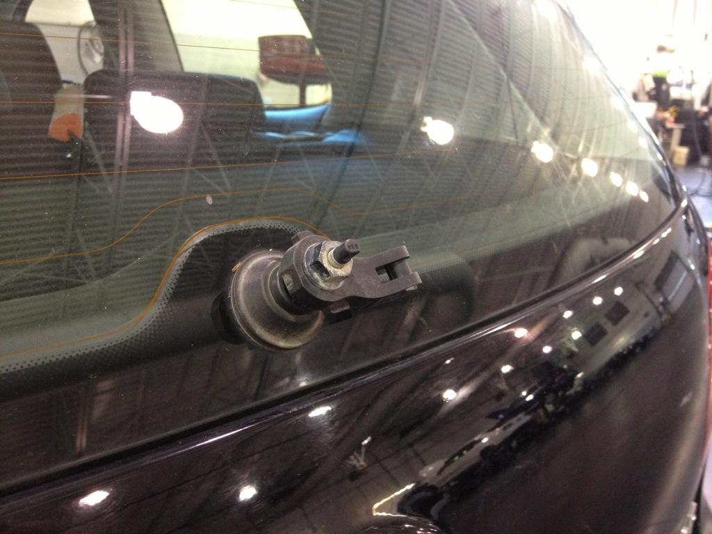 Damaged Volkswagen Wiper blad