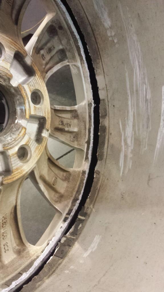 VW Wheel Damage