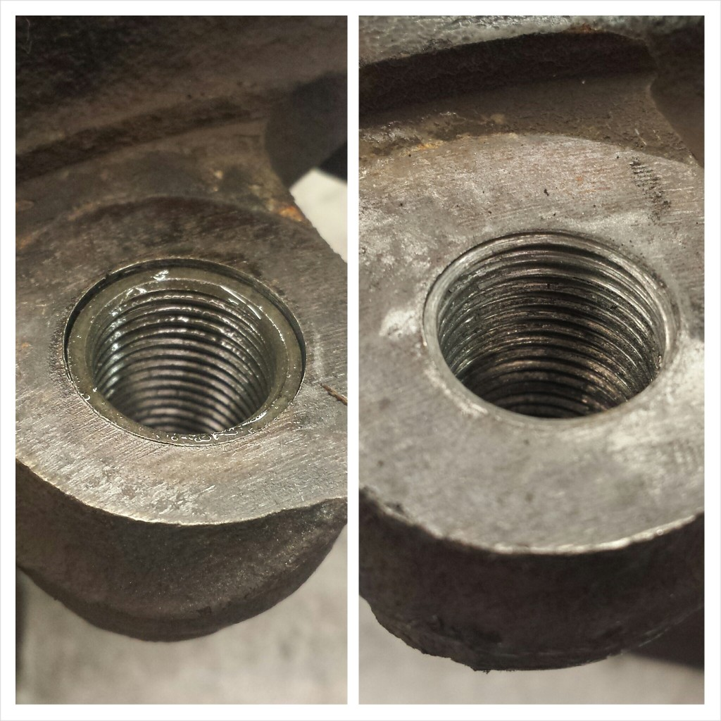 Damaged Vw threads