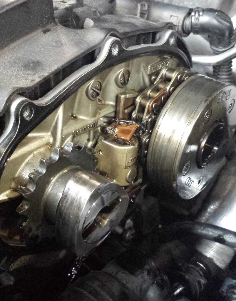 Damaged VW Cam Shaft