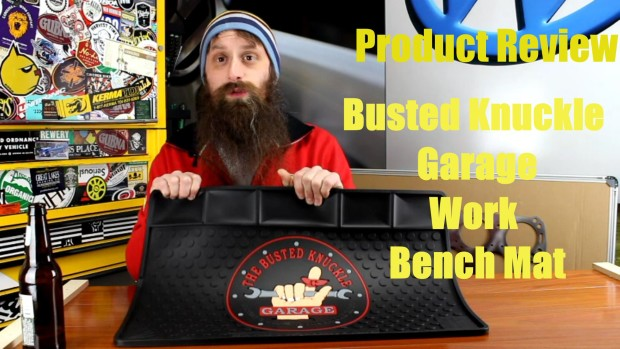 Busted Knuckle Garage, Work Bench Mat Review ~ Video