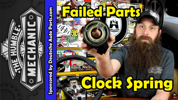 How The VW Clock Spring Fails ~ Video