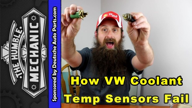 How VW Coolant Temperature Sensors Fail ~ Video