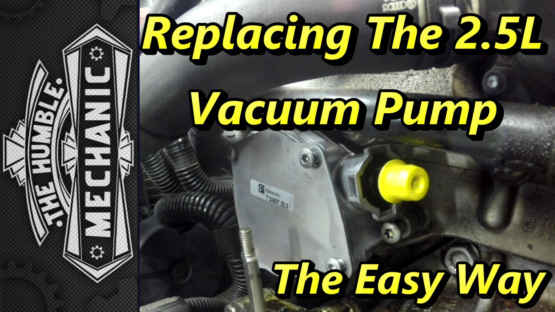 Replacing VW 2.5l Vacuum Pump ~ The Easy Way | Humble Mechanic