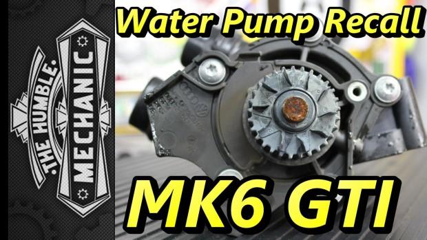 Water Pump Recall MK6 GTI ~ Podcast Episode 88
