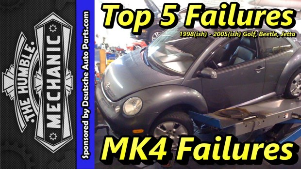 Top 5 Failures 1999-2005 MK4 Golf, Beetle and Jetta