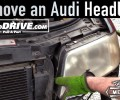How To Remove an Audi Headlight ~ Salvage Yard Tips