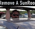 How To Remove an VW Sunroof Glass ~ Salvage Yard Tips