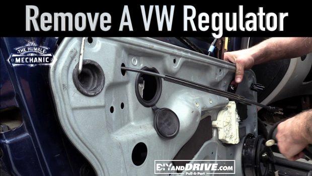How To Remove a VW Window Regulator ~ Salvage Yard Tips