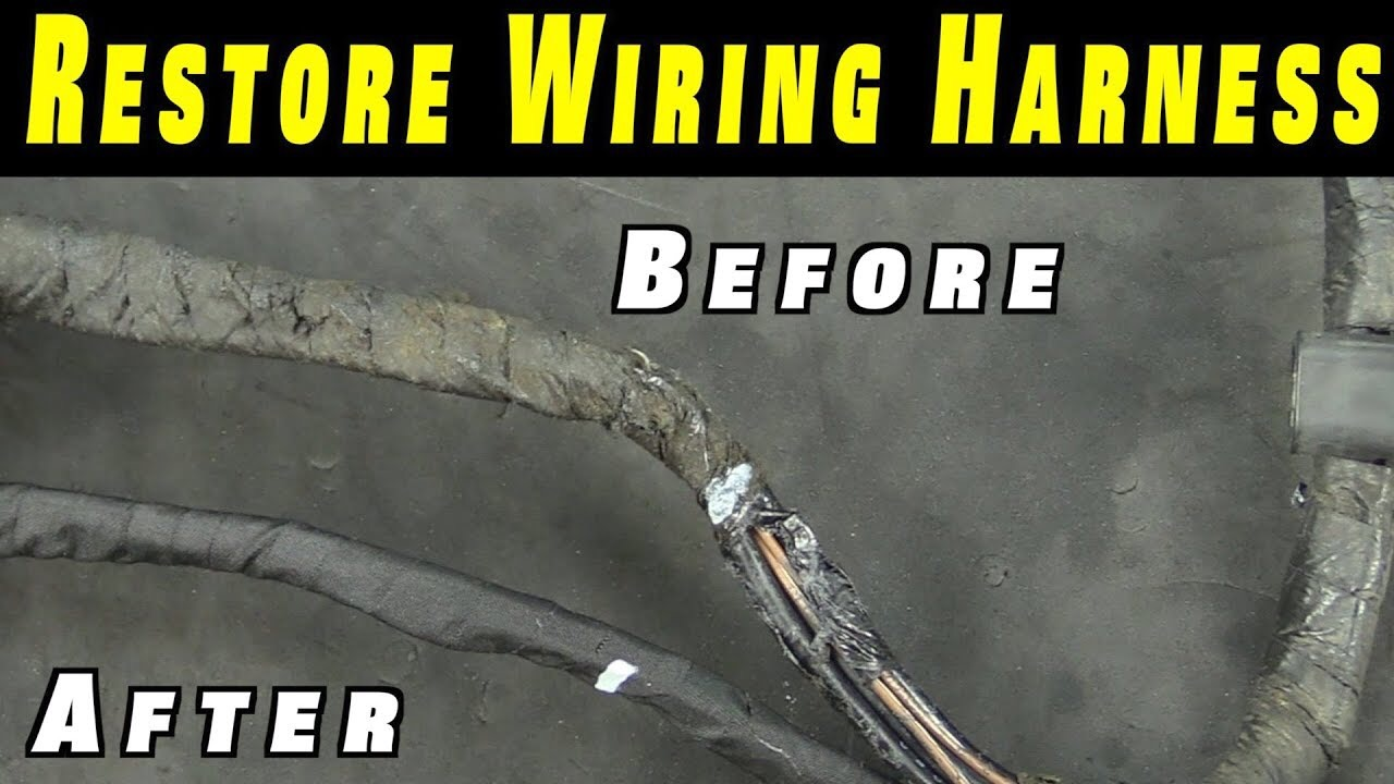 IMG_2561 how to restore any wiring harness humble mechanic Automotive Wire Harness Wrapping Tape at alyssarenee.co