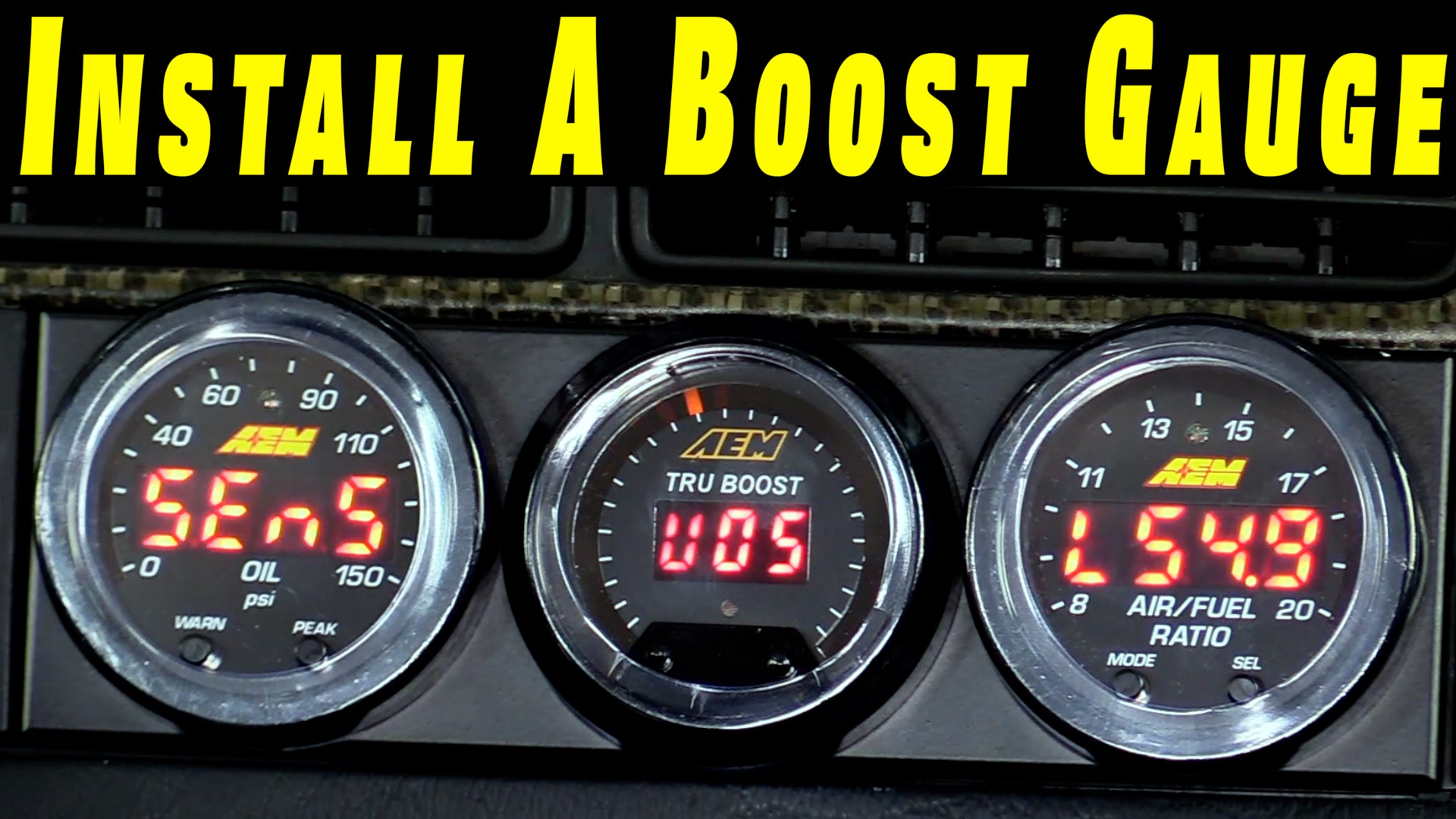 How To Install A Boost Gauge On Any Car | Humble Mechanic