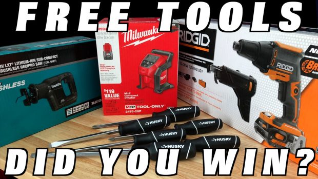 AND THE WINNERS ARE……Tool Giveaway with The Home Depot