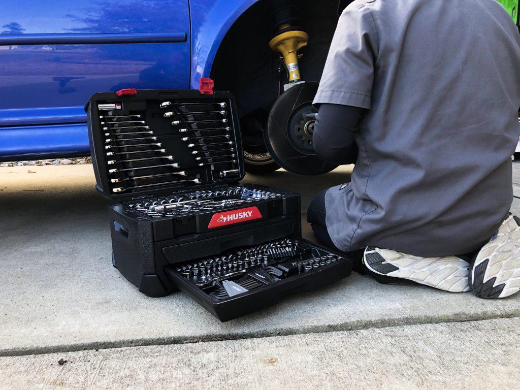 Husky 268 Mechanic's Tool Set with storage box